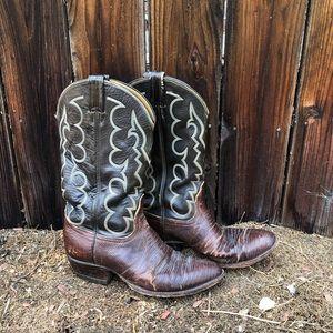 Vintage Tony Lama Cowboy Boots 10